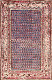 Blue Geometric Botemir Persian Area Rug 4x7