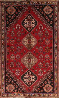 Red Geometric Kashkoli Persian Area Rug 5x9