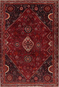 Red Geometric Kashkoli Persian Area Rug 7X10