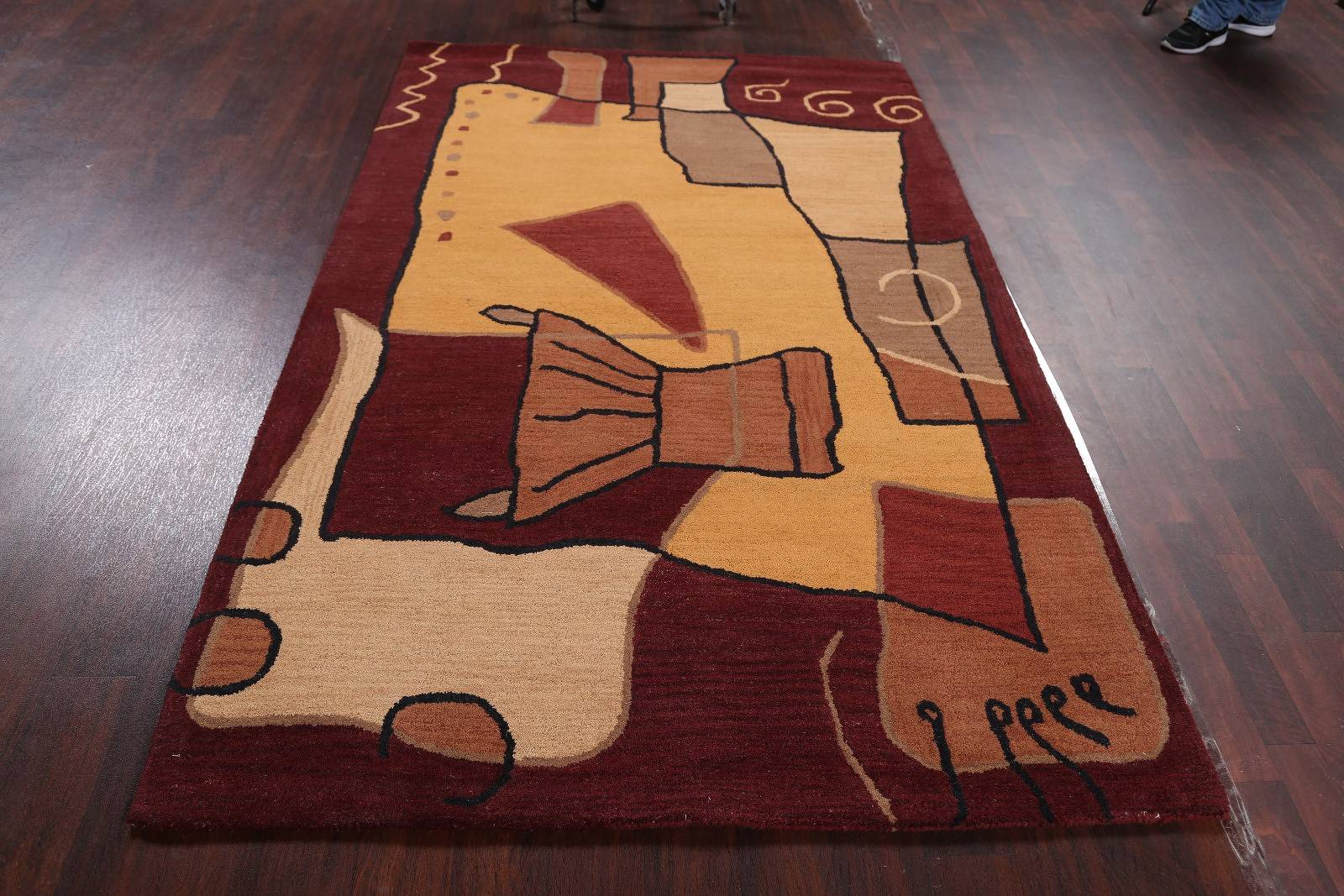 Hand-Tuffted Artistic Modern Oriental Area Rug