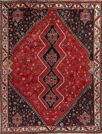 Red Tribal Geometric Lori Persian Area Rug 7x10
