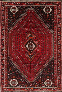 Red Tribal Geometric Lori Shiraz Persian Area Rug 7x10