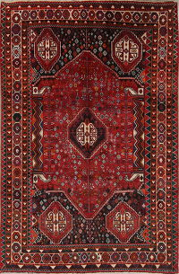 Red Geometric Kashkoli Persian Area Rug 6x10