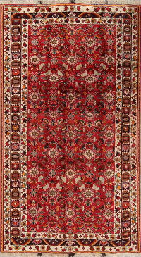 Red Geometric Kashkoli Persian Area Rug 6x9