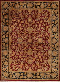 Red Floral Agra Style Indian Oriental Area Rug 9x12