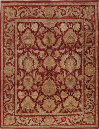 Red Floral Agra Style Indian Oriental Area Rug 8x10