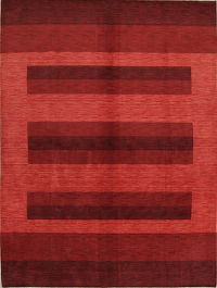 Striped Gabbeh Indian Oriental Area Rug
