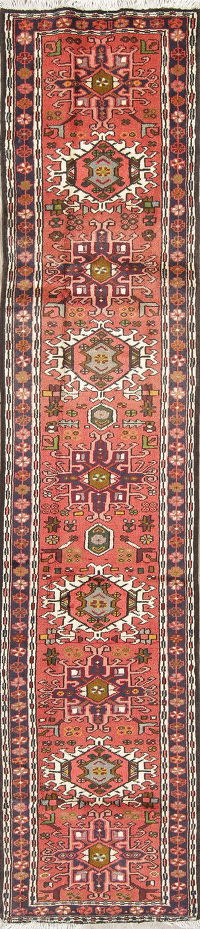 Tribal Geometric Gharajeh Persian Runner Rug 2x10