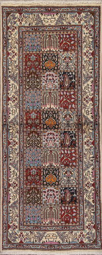 Animal Pictorial Mood Kashmar Persian Runner Rug 3x6