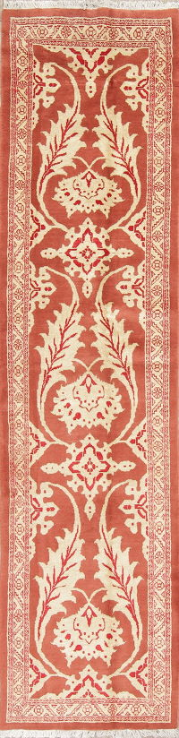 Pink Floral Oushak Persian Runner Rug 3x11