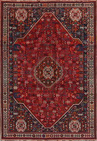 Red Tribal Kashkoli Persian Area Rug 7x10