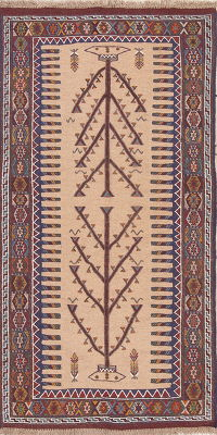 Geometric Kilim Shiraz Persian Runner Rug 3x6