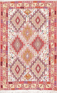 Tribal Geometric Kilim Shiraz Persian Area Rug 4x6