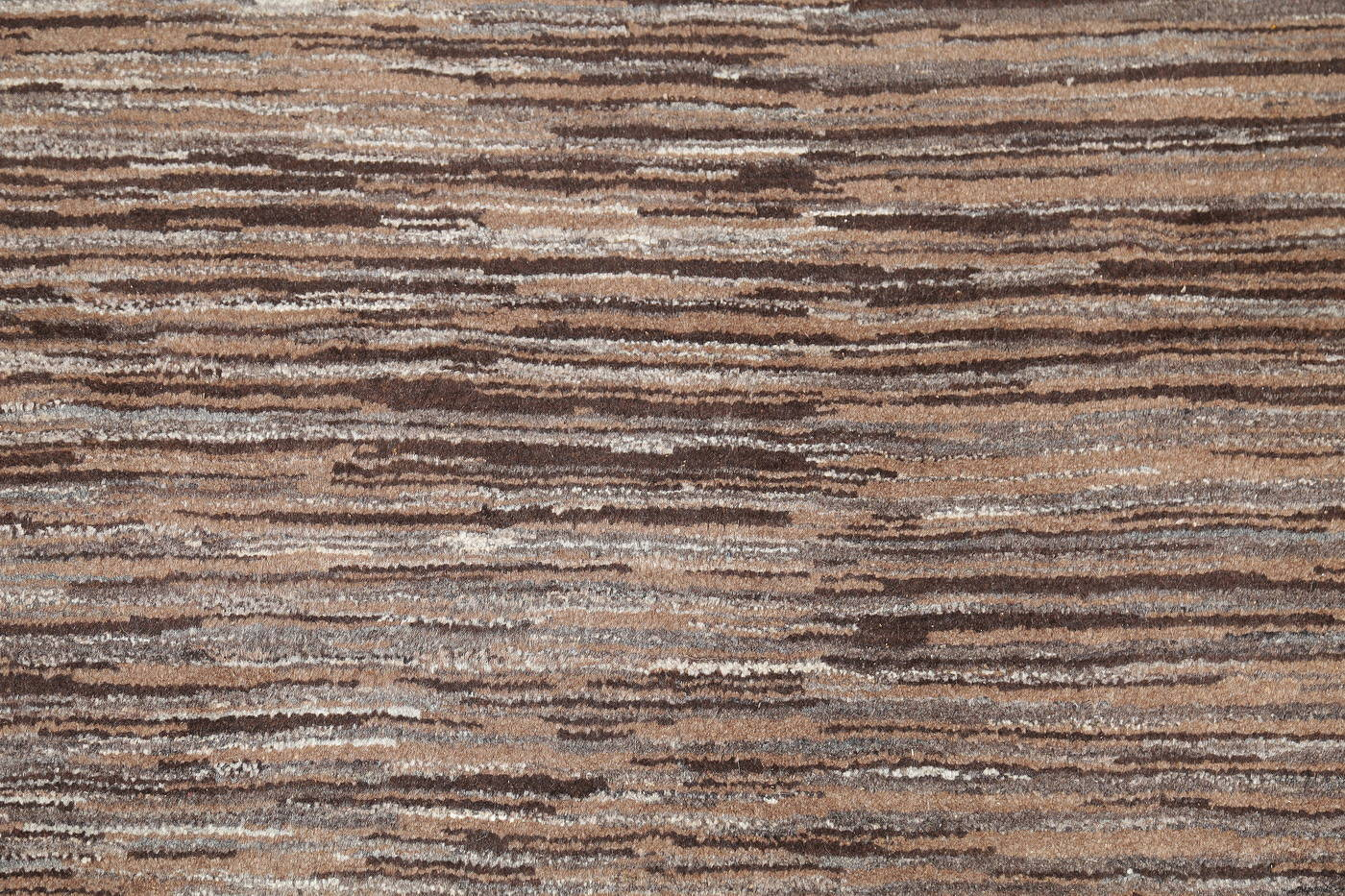 Hand-Knotted Striped Contemporary Gabbeh Shiraz Persian Area Rug Wool 4x5