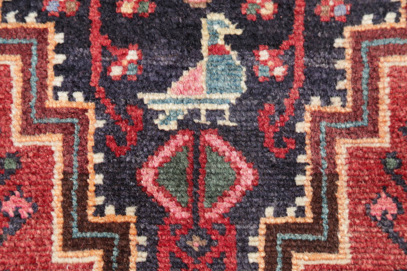 Hand-Knotted Tribal Zanjan Persian Area Rug Wool 4x5