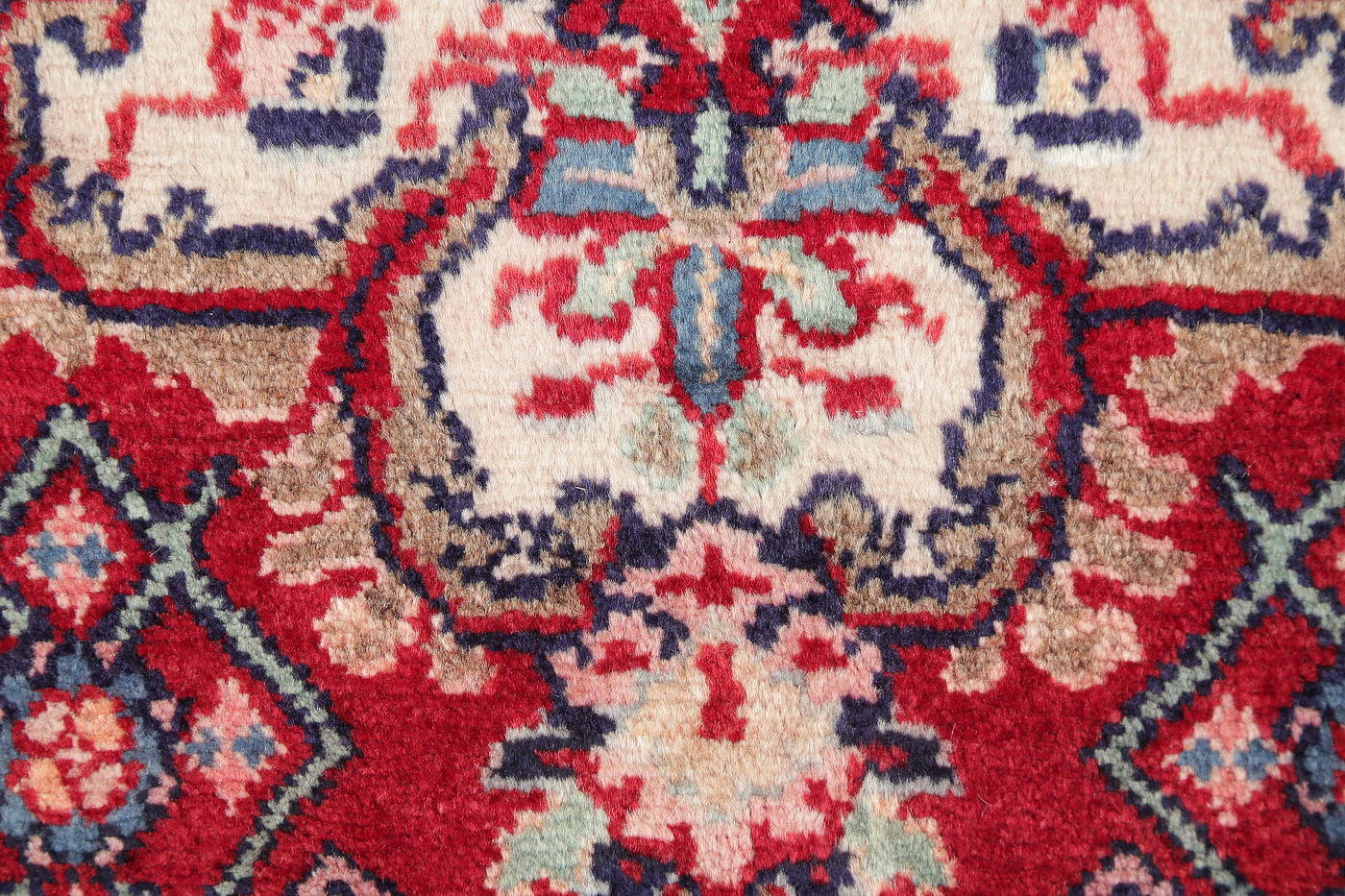 Hand-Knotted Red Geometric Malayer Hamedan Persian Runner Rug Wool 3x6