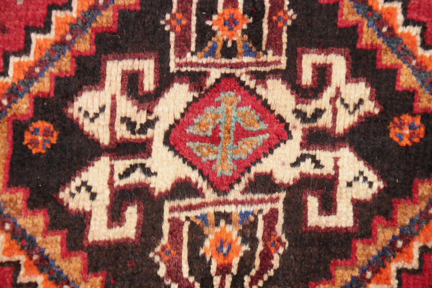 Hand-Knotted Red Tribal Abadeh Persian Area Rug Wool 4x5