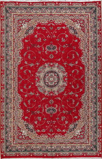 Floral Red Oushak Turkish Oriental Area Rug 6x10