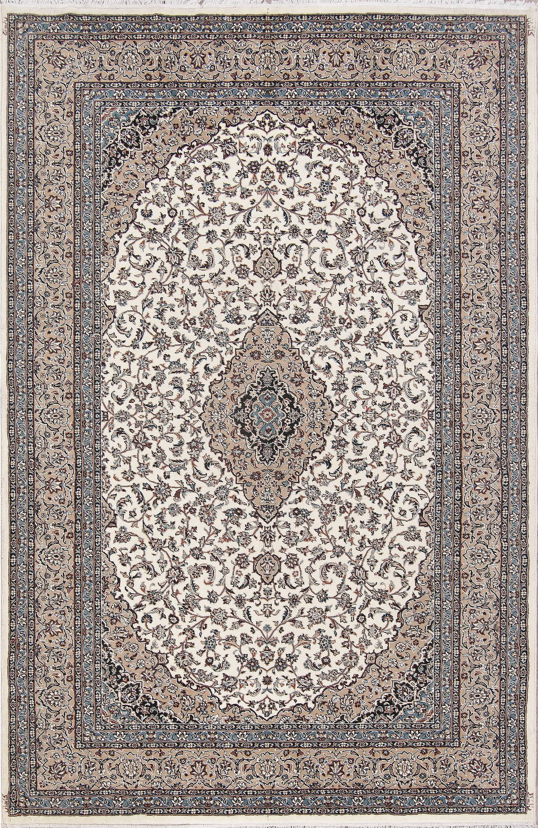 Floral Ivory Oushak Turkish Oriental Area Rug Wool 7x10