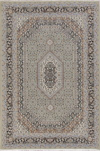 Geometric Green Bidjar Turkish Oriental Area Rug Wool 7x10