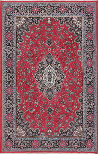 Floral Red Najafabad Isfahan Turkish Oriental Area Rug 6x10