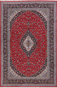 Floral Red Kashan Turkish Oriental Area Rug Wool 6x10