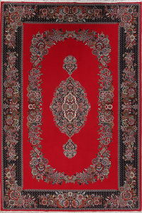 Floral Red Oushak Turkish Oriental Area Rug Wool 7x10