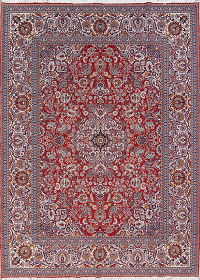 Floral Red Oushak Turkish Oriental Area Rug Wool 9x13