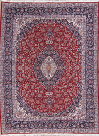 Floral Red Najafabad Isfahan Turkish Oriental Area Rug Wool 9x13