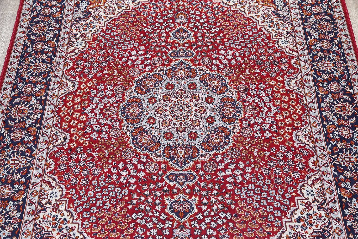 All-Over Floral Red Najafabad Isfahan Turkish Oriental Area Rug Wool 10x13