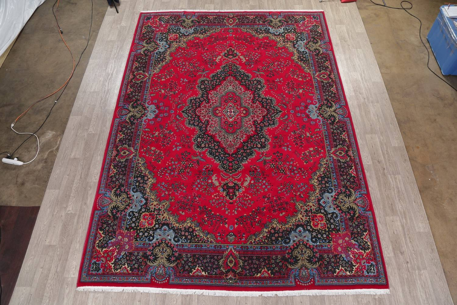 Floral Red Oushak Turkish Oriental Area Rug 10x13