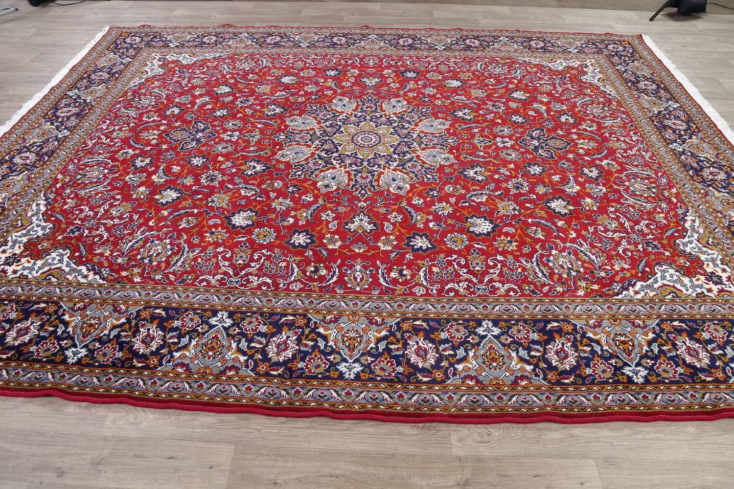 Floral Red Oushak Turkish Oriental Area Rug Wool 10x12