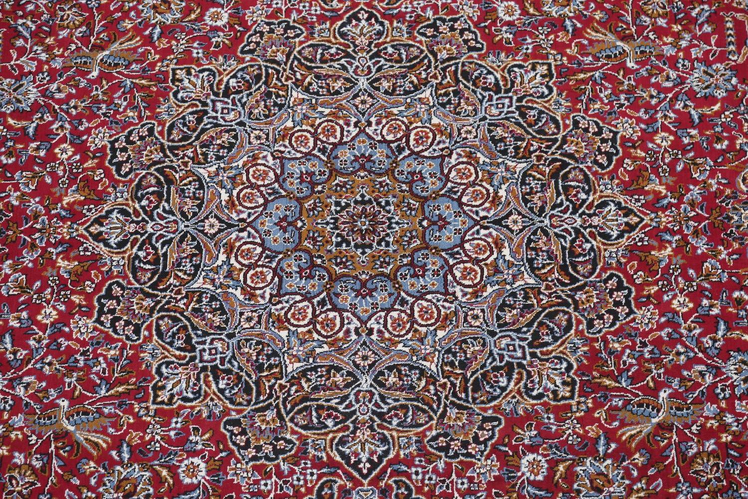 Floral Pictorial Red Kashmar Turkish Oriental Area Rug Wool 10x13