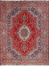 Floral Red Kerman Turkish Oriental Area Rug Wool 10x13