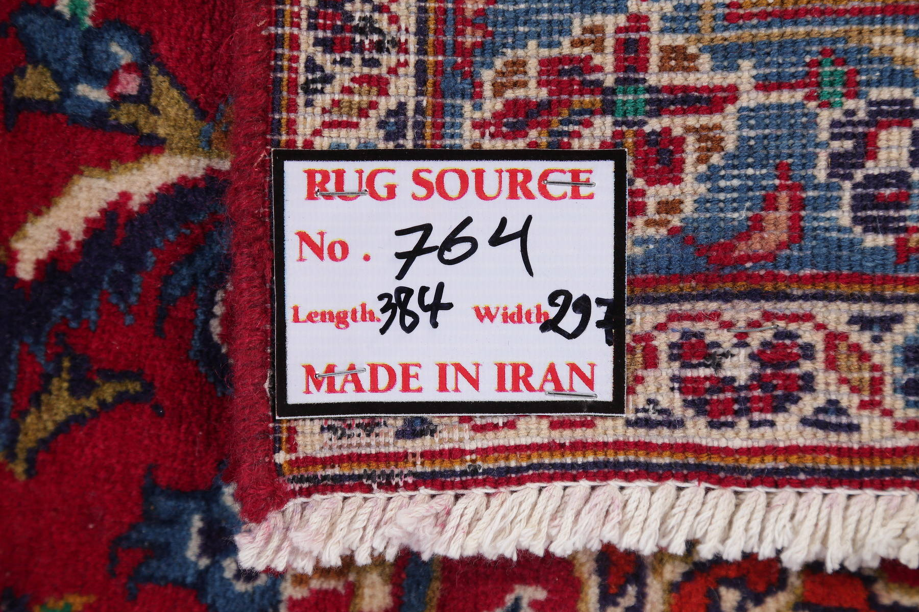 Hand-Knotted Red Floral Kashan Persian Area Rug Wool 10x13