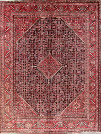 Antique Geometric Mahal Persian Area Rug Wool 10x13