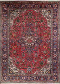 Geometric Tabriz Persian Hand-Knotted Area Rug Wool 8x11