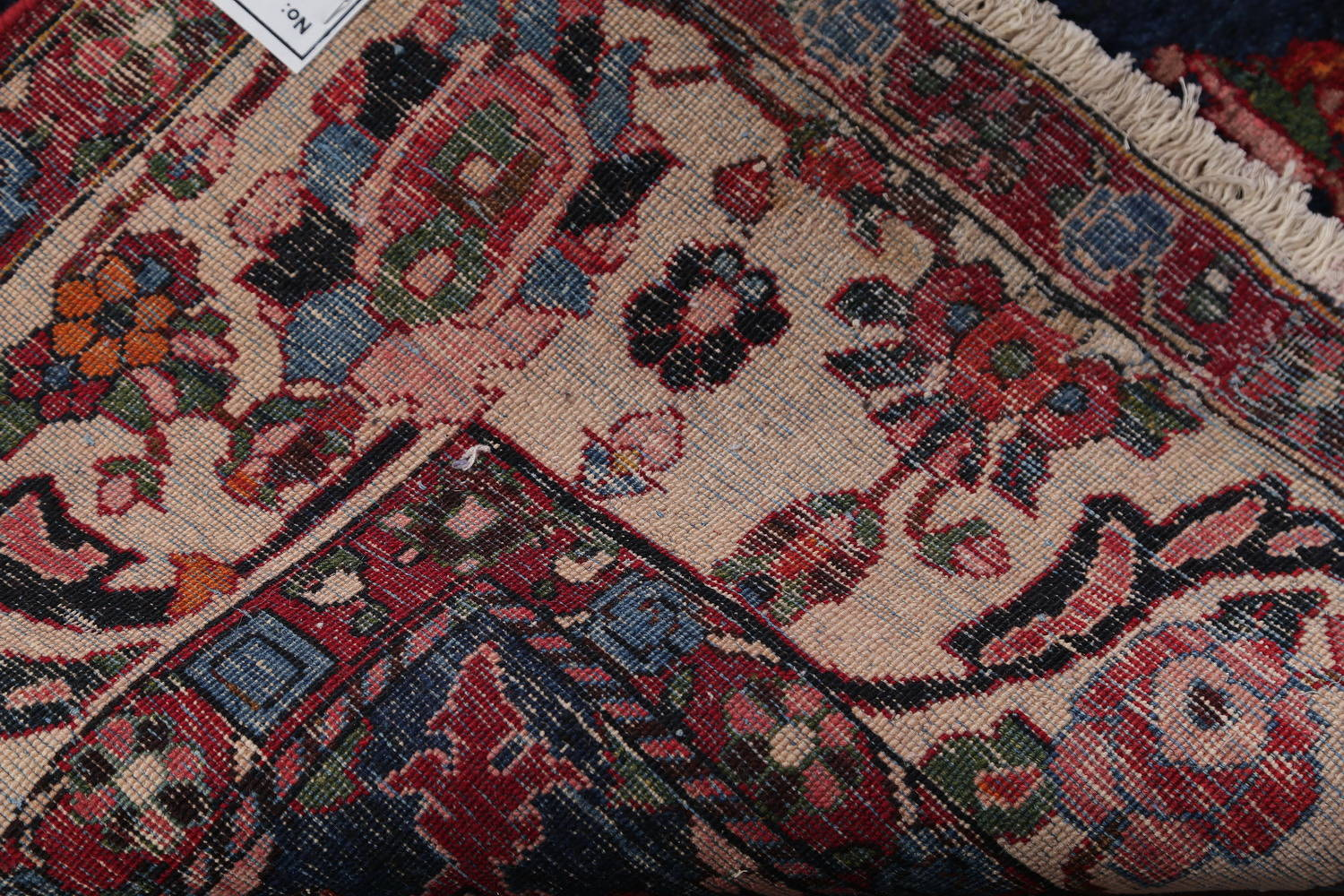 Floral Red Bakhtiari Persian Hand-Knotted Area Rug Wool 7x11