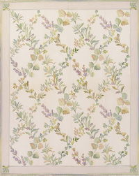 Floral Aubusson Chinese Oriental Hand-Woven Area Rug Wool 8x10
