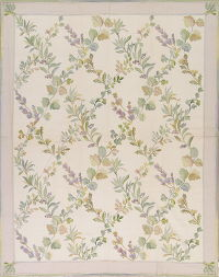 Floral Ivory Aubusson Chinese Oriental Hand-Woven Area Rug Wool 8x10