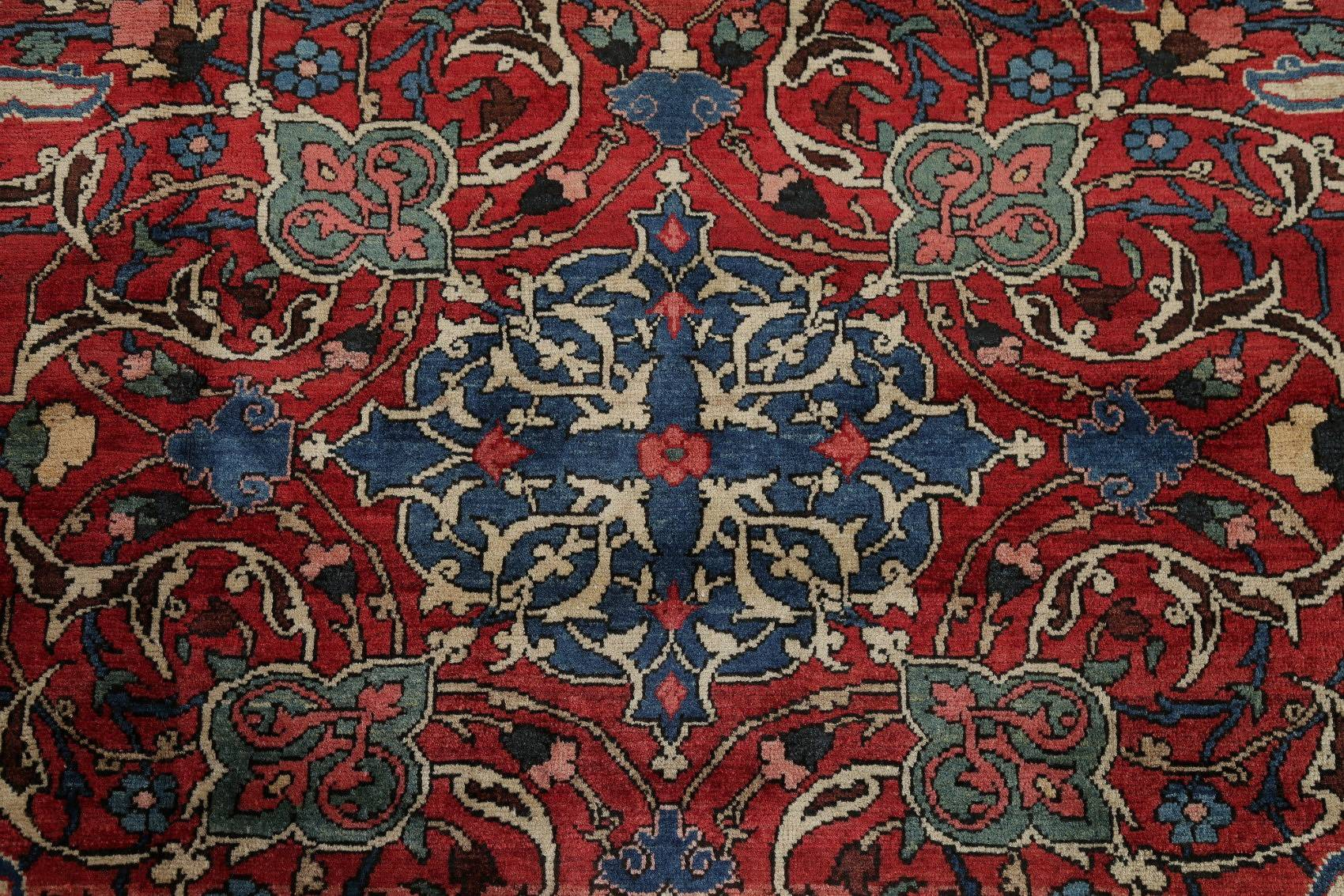 Antique Vegetable Dye Bakhtiari Saman Persian Hand Knotted